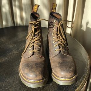 Doctor Marten Crazy Horse Leather Lace Up Boot